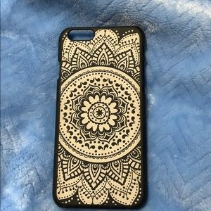 Accessories - Black and white flower print phone case